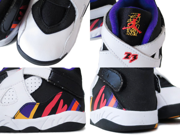 the latest c4055 874c6 NIKE AIR JORDAN 8 RETRO TD WHITE RED BLACK CONCORD  THREEPEAT