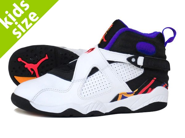 new concept 8f31c cfe34 NIKE AIR JORDAN 8 RETRO PS WHITE RED BLACK CONCORD  THREEPEAT