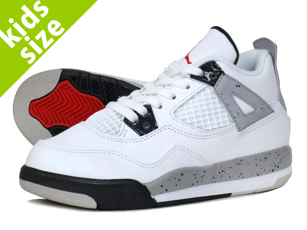 425332c80b5 LOWTEX PLUS  NIKE AIR JORDAN 4 RETRO TD WHITE RED BLACK SILVER  WHITE  CEMENT