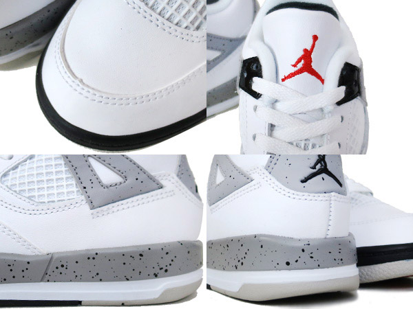 383e657ea8a LOWTEX PLUS  NIKE AIR JORDAN 4 RETRO TD WHITE RED BLACK SILVER ...
