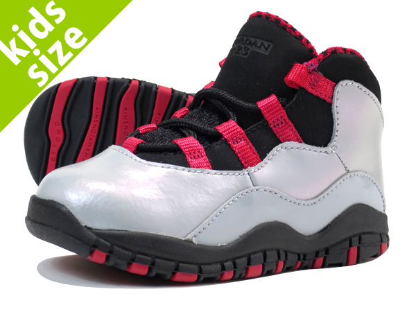 0c740f0924d8 NIKE AIR JORDAN 10 RETRO TD Nike Air Jordan 4 nostalgic TD WOLF GREY BLACK LEGION  RED