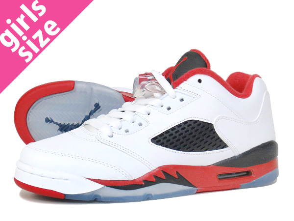 newest collection b462a 62478 NIKE AIR JORDAN 5 RETRO LOW GS WHITE FIRE RED BLACK  FIRE RED