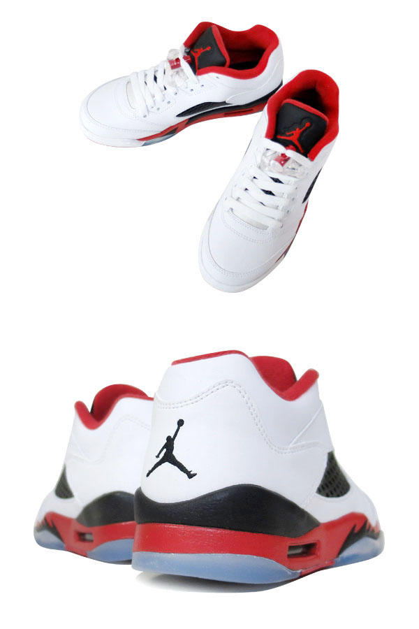 newest collection 48397 771ea NIKE AIR JORDAN 5 RETRO LOW GS WHITE FIRE RED BLACK  FIRE RED