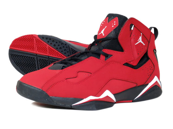 Nike Air Jordan Vol Vrai Gymnase Noir Jordan Rouge