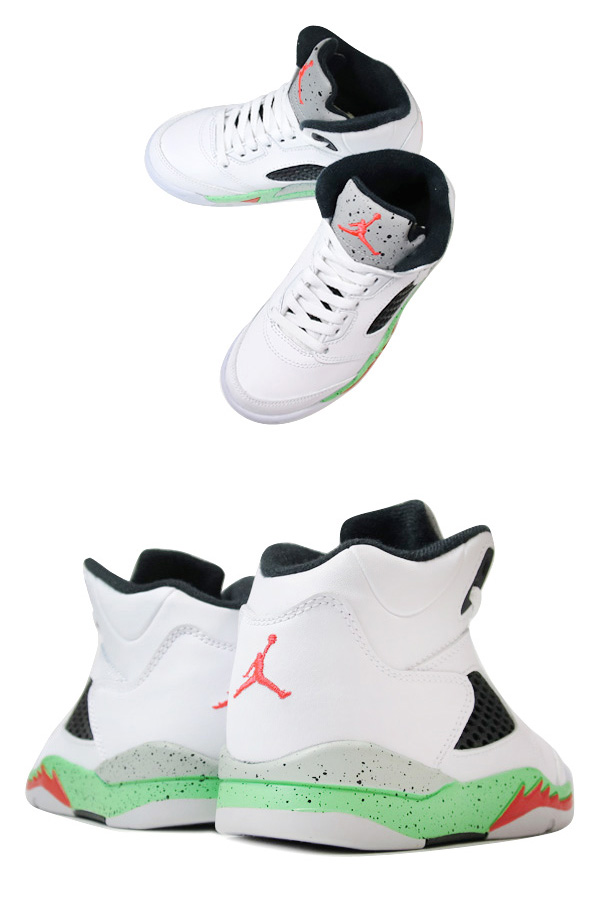 online retailer 1a10e f75fd ... cheap nike air jordan 5 retro ps white infrared 23 light poison green  black pro stars