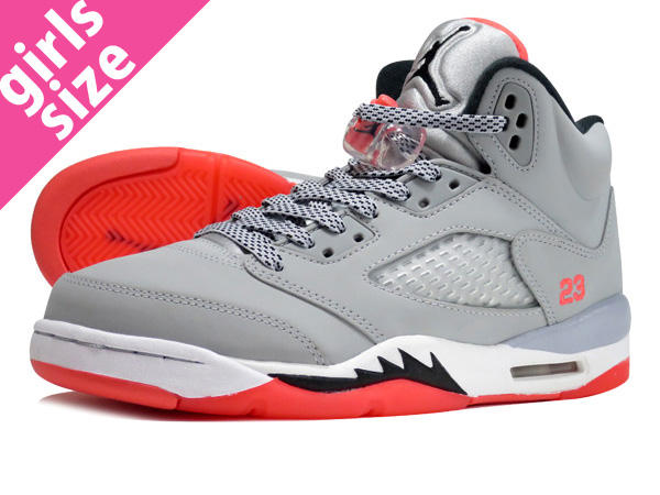 f407139eac3 LOWTEX PLUS: NIKE AIR JORDAN 5 RETRO GS Nike Air Jordan 5 nostalgic GS WOLF  GREY/BLACK/HOT LAVA/WHITE 440,892-018 | Rakuten Global Market