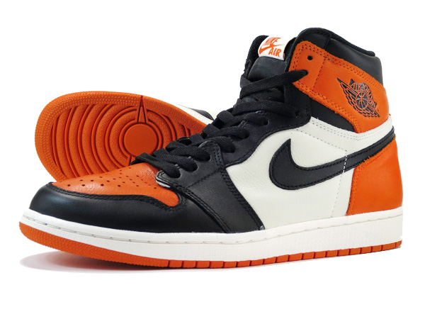 NIKE AIR JORDAN 1 RETRO HIGH OG BLACK/WHITE/TEAM ORANGE【SHATTERED BACKBOARD】