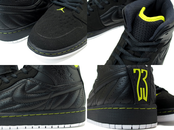 black and yellow jordan 1 retro
