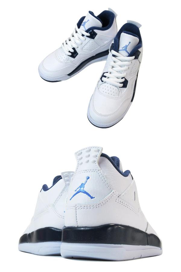 innovative design 95877 3c5b5 ... ireland nike air jordan 4 retro ps white navy blue legend blue 34367  2cc3d