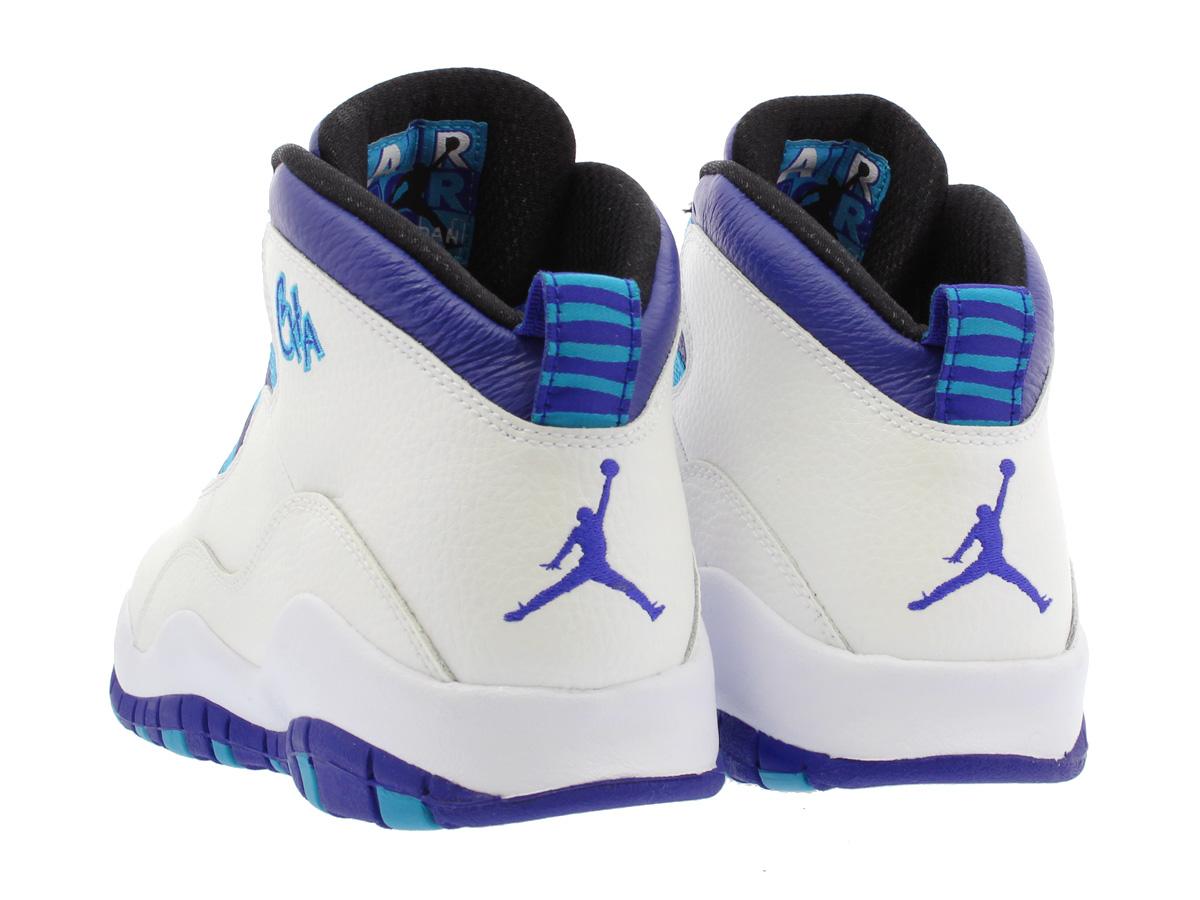 db96c1f02983 NIKE AIR JORDAN 10 RETRO BG Nike Air Jordan 10 nostalgic BG WHITE LIGHT  CRIMSON UNIVERSITY BLUE BLACK 310