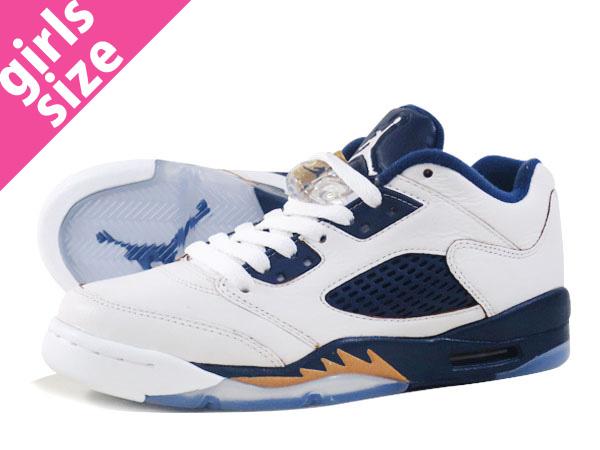 c7c720a3535 LOWTEX PLUS: NIKE AIR JORDAN 5 RETRO LOW GS Nike Air Jordan 5 nostalgic low  GS WHITE/GOLD/NAVY 314,338-135 | Rakuten Global Market