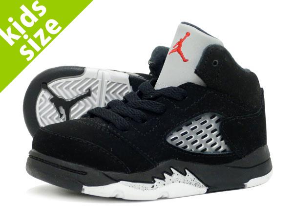 brand new e7984 7a201 NIKE AIR JORDAN 5 RETRO OG BT Nike Air Jordan 5 nostalgic OG BT BLACK/FIRE  RED/METALLIC SILVER