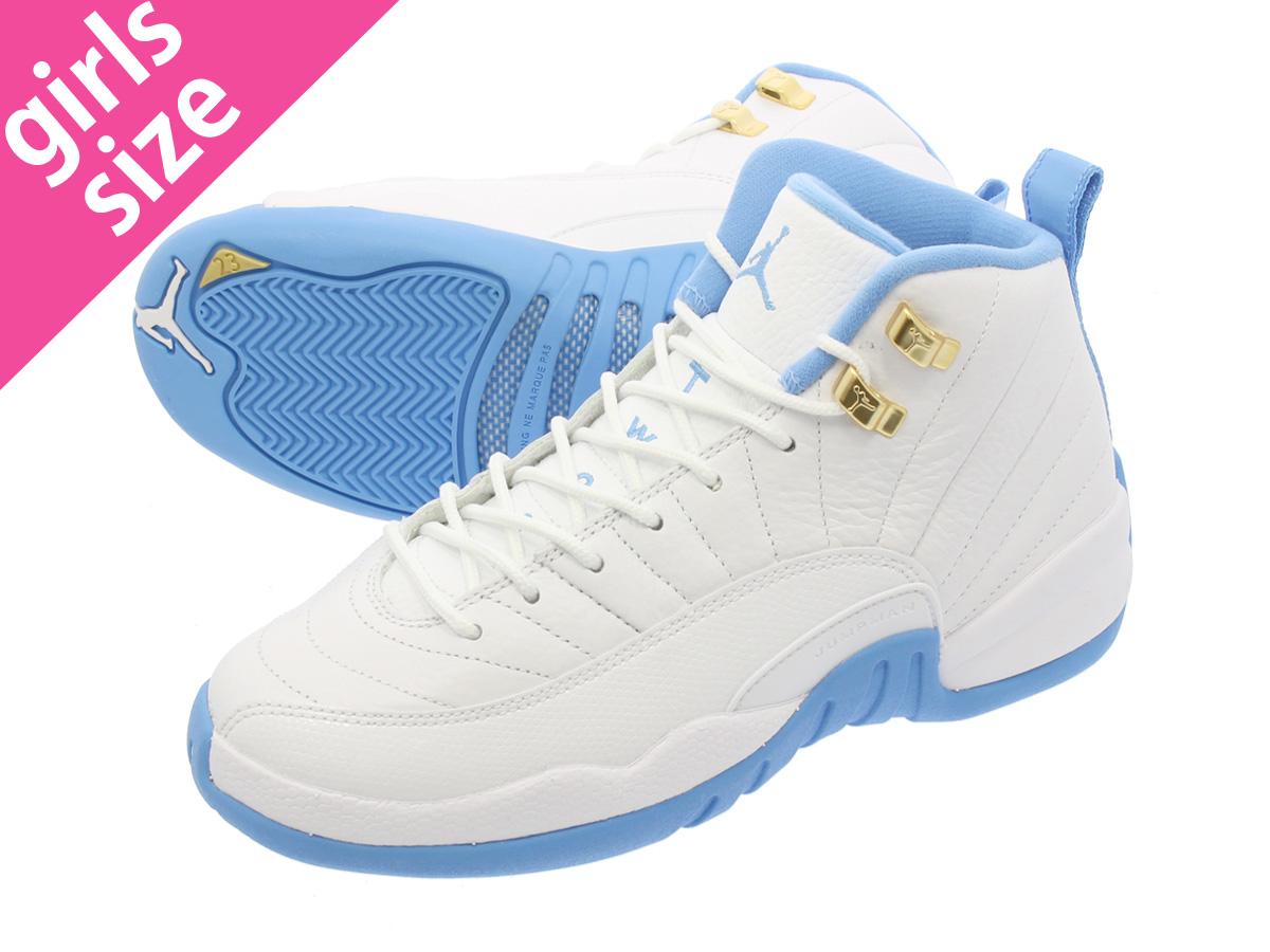 03212b24c5bc4c NIKE AIR JORDAN 12 RETRO GG Nike Air Jordan 12 retro GG WHITE METALLIC GOLD UNIVERSITY  BLUE