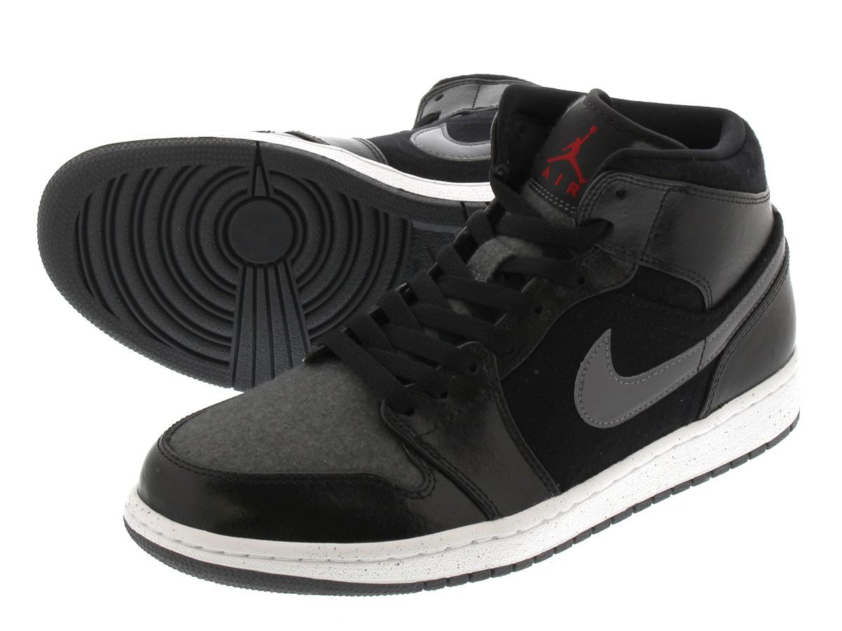 half off 07e6d 864a8 NIKE AIR JORDAN 1 MID PREMIUM Nike Air Jordan 1 mid premium BLACK DARK GREY  WHITE GYM RED