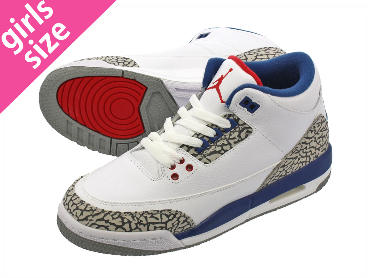 b1a4d71169a NIKE AIR JORDAN 3 RETRO OG BG Nike Air Jordan 3 nostalgic OG BG WHITE/FIRE  RED/TRUE BLUE/CEMENT GREY 854,261-106