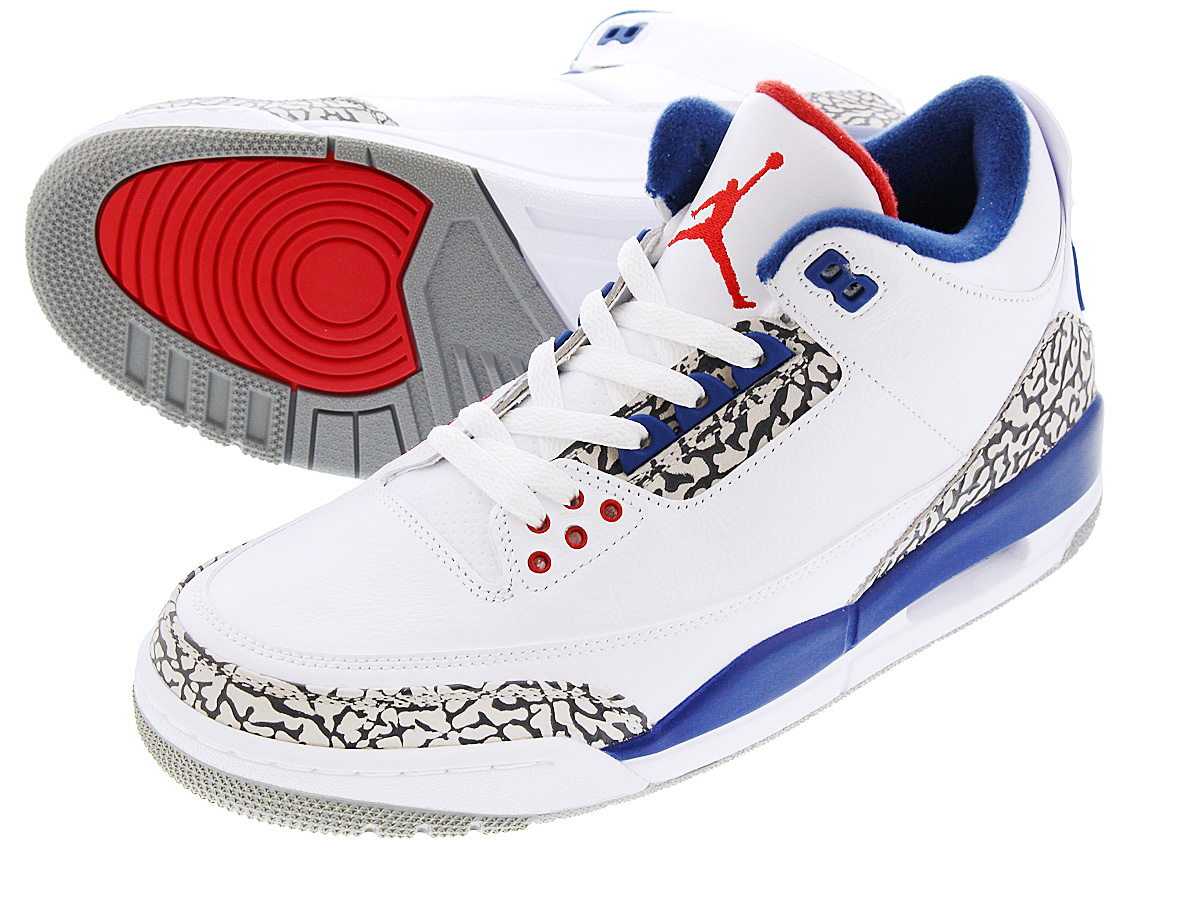 NIKE AIR JORDAN 3 RETRO OG ナイキ エア ジョーダン 3 レトロ OG WHITE/FIRE RED/TRUE BLUE/CEMENT GREY 854262-106