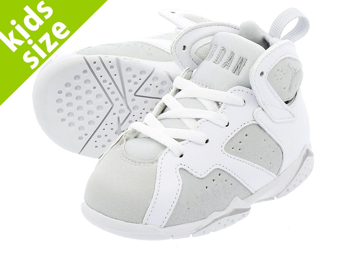 bf06ad2dbfd NIKE AIR JORDAN 7 RETRO BT Nike Air Jordan 7 nostalgic BT WHITE METALLIC  SILVER PURE PLATINUM