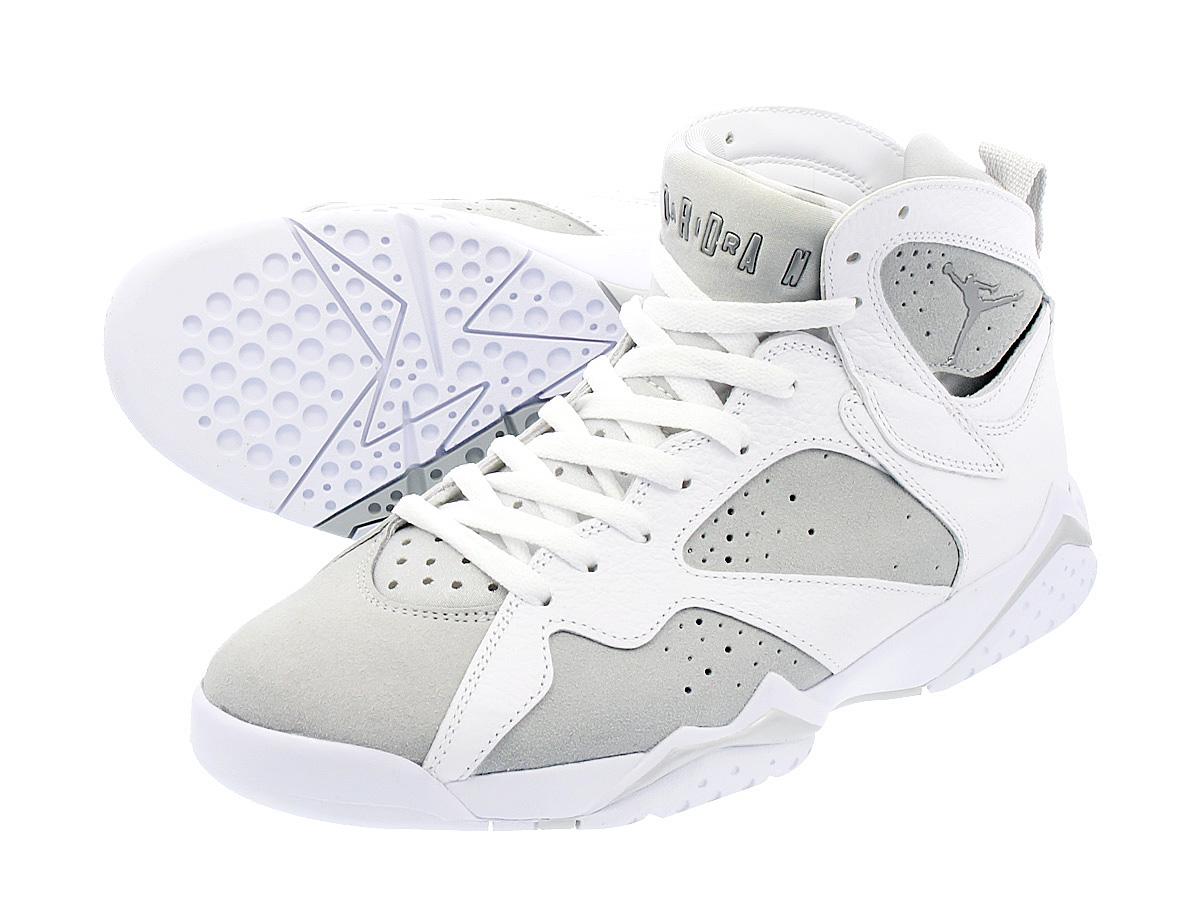 55d89b0c754 NIKE AIR JORDAN 7 RETRO Nike Air Jordan 7 nostalgic WHITE METALLIC SILVER PURE  PLATINUM