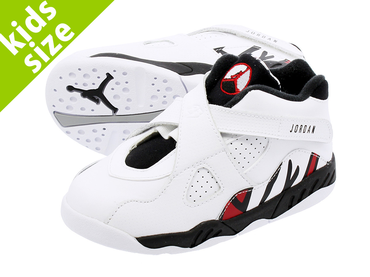 【ベビー サイズ】【9cm-16cm】 NIKE AIR JORDAN 8 RETRO BT 【ALTERNATE】 ナイキ エア ジョーダン 8 レトロ BT WHITE/BLACK/GYM RED