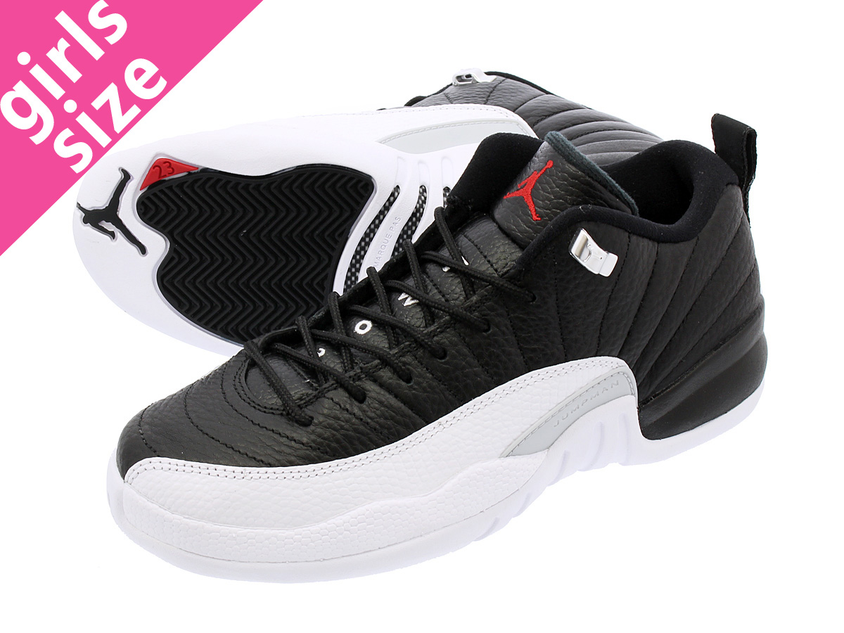 f080e1c9391 NIKE AIR JORDAN 12 RETRO LOW BG Nike Air Jordan 12 Lorre fatty tuna BG  BLACK/VARSITY RED/WHITE/METALLIC SILVER 308,305-004