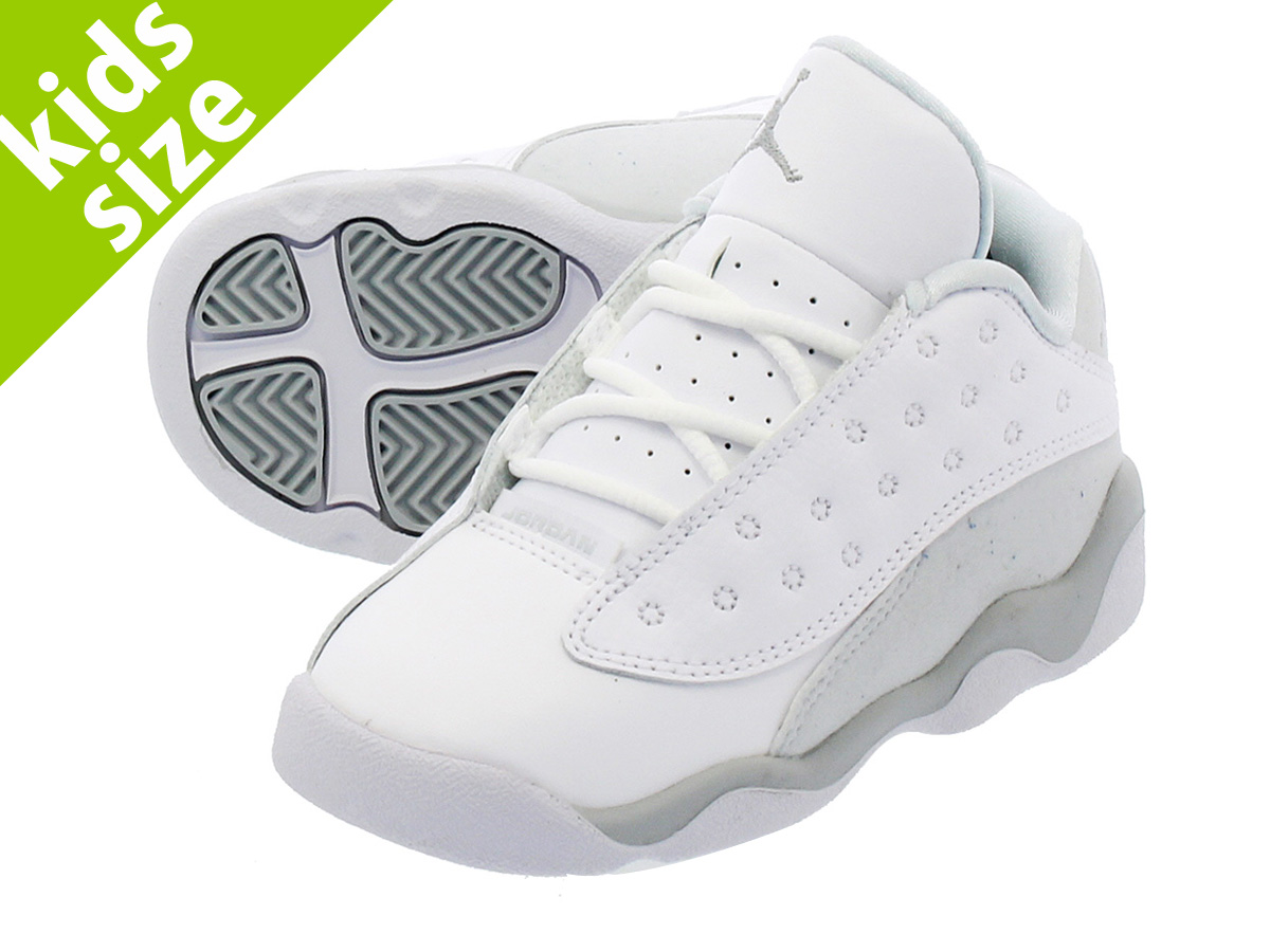 ca0ac647176 NIKE AIR JORDAN 13 RETRO LOW TD耐吉空氣喬丹13重新流行低TD WHITE METALLIC SILVER PURE  PLATINUM