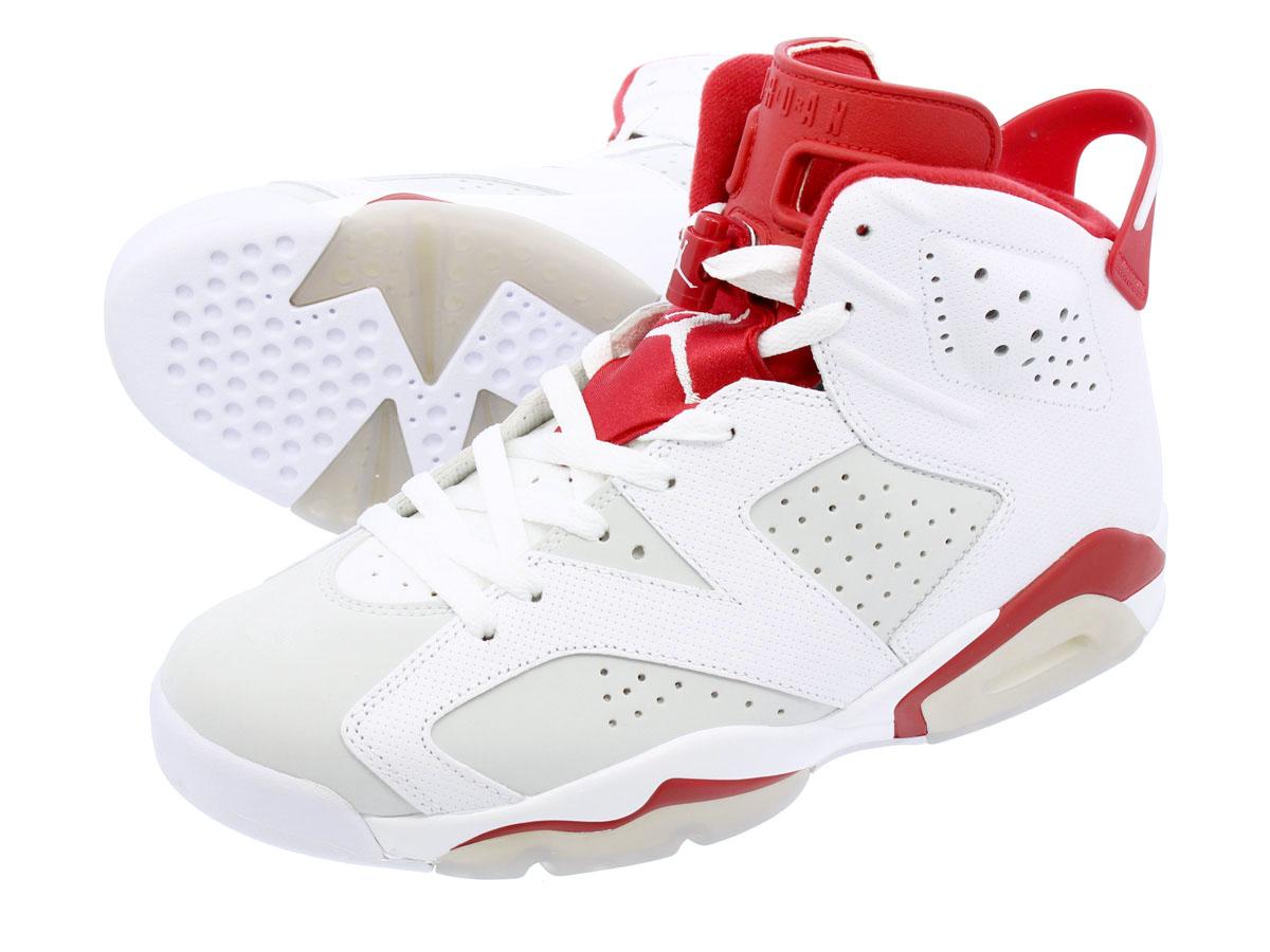870c411e24d NIKE AIR JORDAN 6 RETRO Nike Air Jordan 6 nostalgic WHITE/GYM RED/PURE