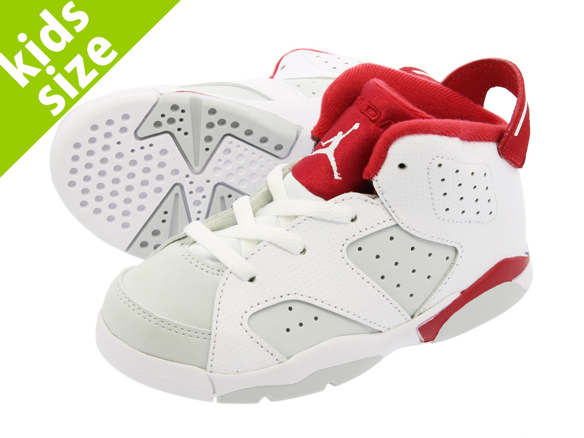 【ベビーサイズ】【8cm-16cm】 NIKE AIR JORDAN 6 RETRO TD 【HARE】 ナイキ エア ジョーダン 6 レトロ TD WHITE/PURE PLATINUM/GYM RED