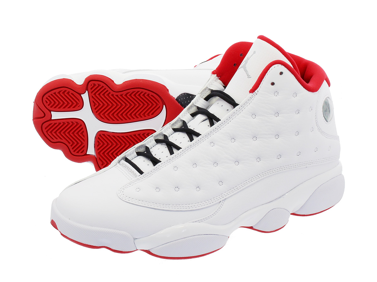 NIKE AIR JORDAN 13 RETRO 【ALTERNATE】 ナイキ エア ジョーダン 13 レトロ WHITE/UNIVERSITY RED/METALLIC SILVER 414571-103