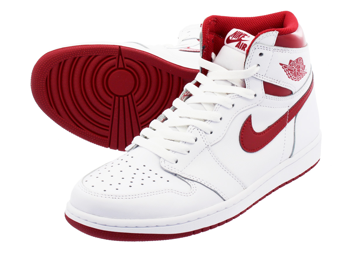 NIKE AIR JORDAN 1 RETRO HIGH OG 【METALLIC RED】 ナイキ エア ジョーダン 1 レトロ ハイ OG WHITE/VARSITY RED 555088-103