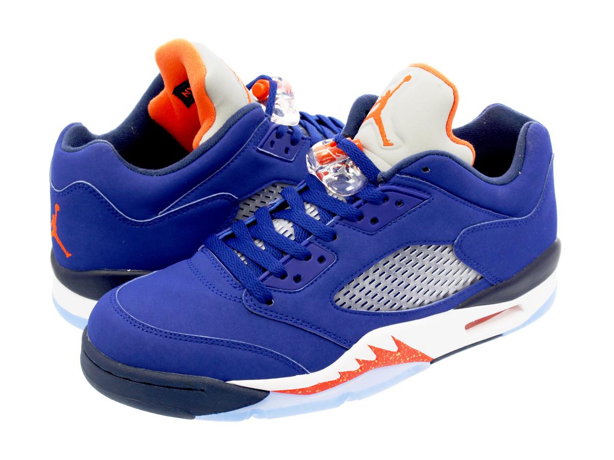 d88ca70d8897 NIKE AIR JORDAN 5 RETRO LOW Nike Air Jordan 5 nostalgic low DEEP ROYAL BLUE TEAM  ORANGE MIDNIGHT NAVY ATOMIC ORANGE