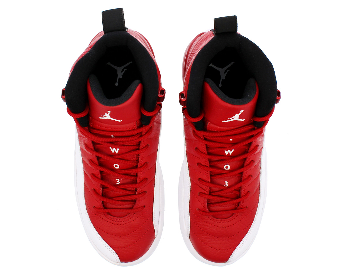 0a1c3466a3e ... NIKE AIR JORDAN 12 RETRO BG Nike Air Jordan 12 nostalgic BG GYM RED/WHITE  ...