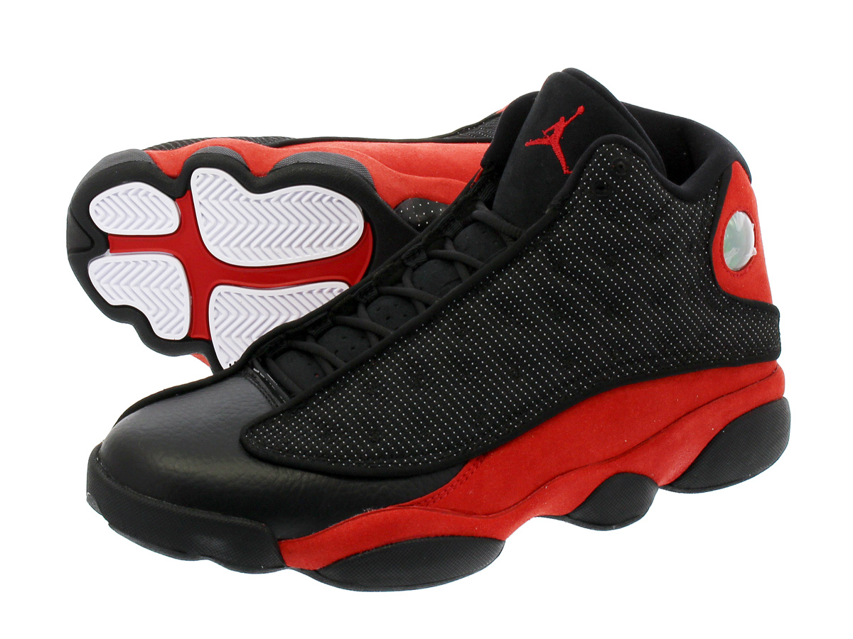 9adf1d44581f NIKE AIR JORDAN 13 RETRO Nike Air Jordan 13 nostalgic BLACK TRUE RED WHITE