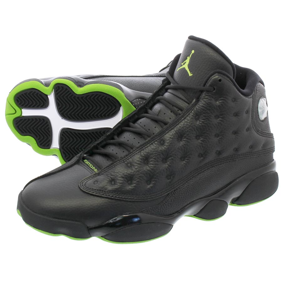 1095b411e93878 NIKE AIR JORDAN 13 RETRO Nike Air Jordan 13 nostalgic BLACK ALTITUDE GREEN
