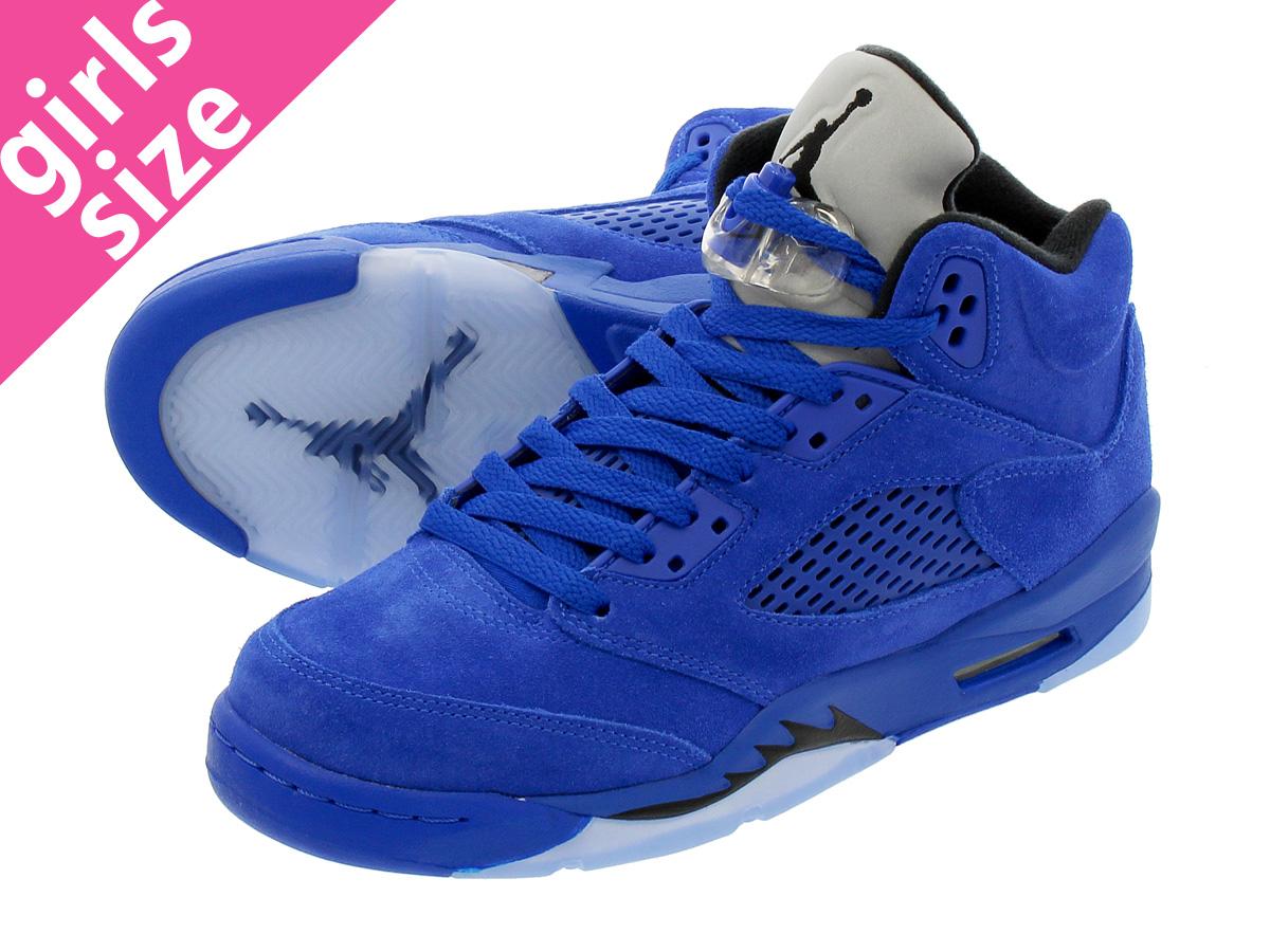 1ba5124d1b5b NIKE AIR JORDAN 5 RETRO BG Nike Air Jordan 5 nostalgic BG GAME ROYAL BLACK GAME  ROYAL
