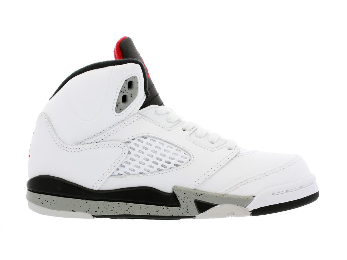NIKE AIR JORDAN 5 RETRO BP Nike Air Jordan 5 nostalgic BP WHITE UNIVERSITY  RED BLACK METALLIC SILVER 17cb71d66