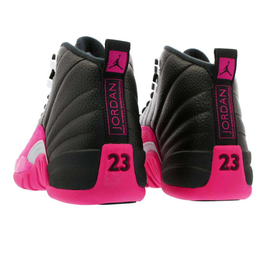 new products 47fea ec813 NIKE AIR JORDAN 12 RETRO GG Nike Air Jordan 12 nostalgic GG BLACK DEADLY  PINK