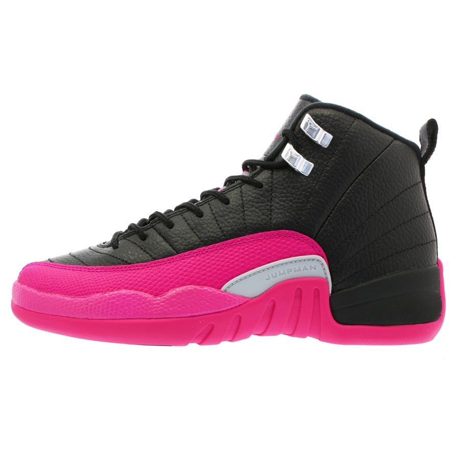 new products 9daee a85ba NIKE AIR JORDAN 12 RETRO GG Nike Air Jordan 12 nostalgic GG BLACK DEADLY  PINK
