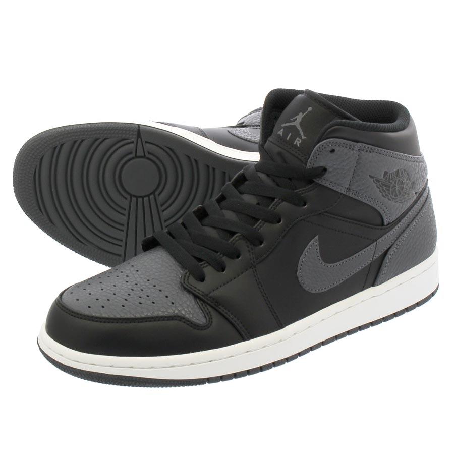 21fa9ff403d NIKE AIR JORDAN 1 MID Nike Air Jordan 1 mid BLACK DARK GREY SUMMIT WHITE