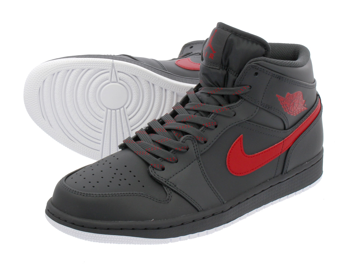 new style 34b08 218ce NIKE AIR JORDAN 1 MID Nike Air Jordan 1 mid ANTHRACITE GYM RED WHITE