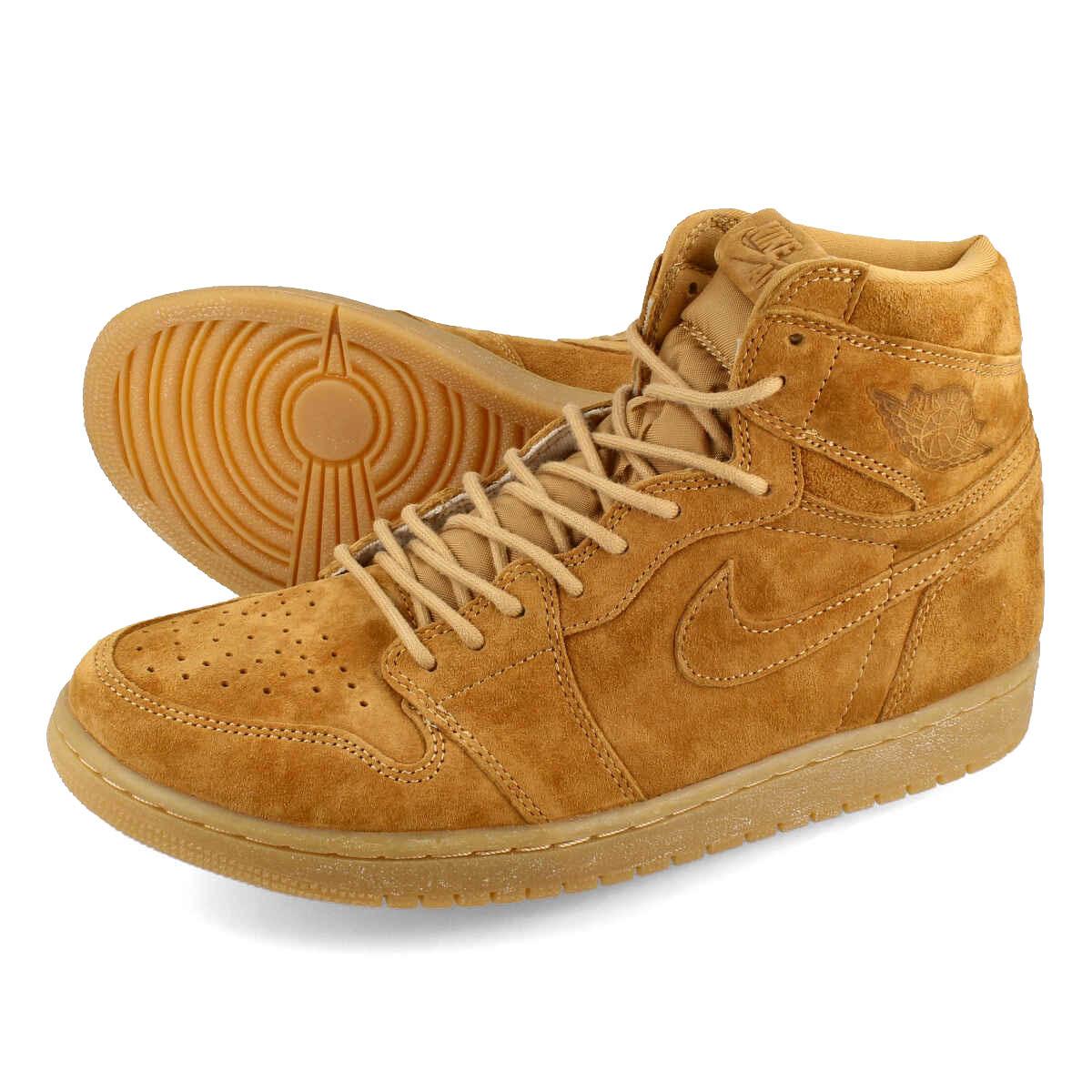 4ea267109293 NIKE AIR JORDAN 1 RETRO HIGH OG Nike Air Jordan 1 nostalgic high OG GOLDEN  HARVEST ELEMENTAL GOLD 555
