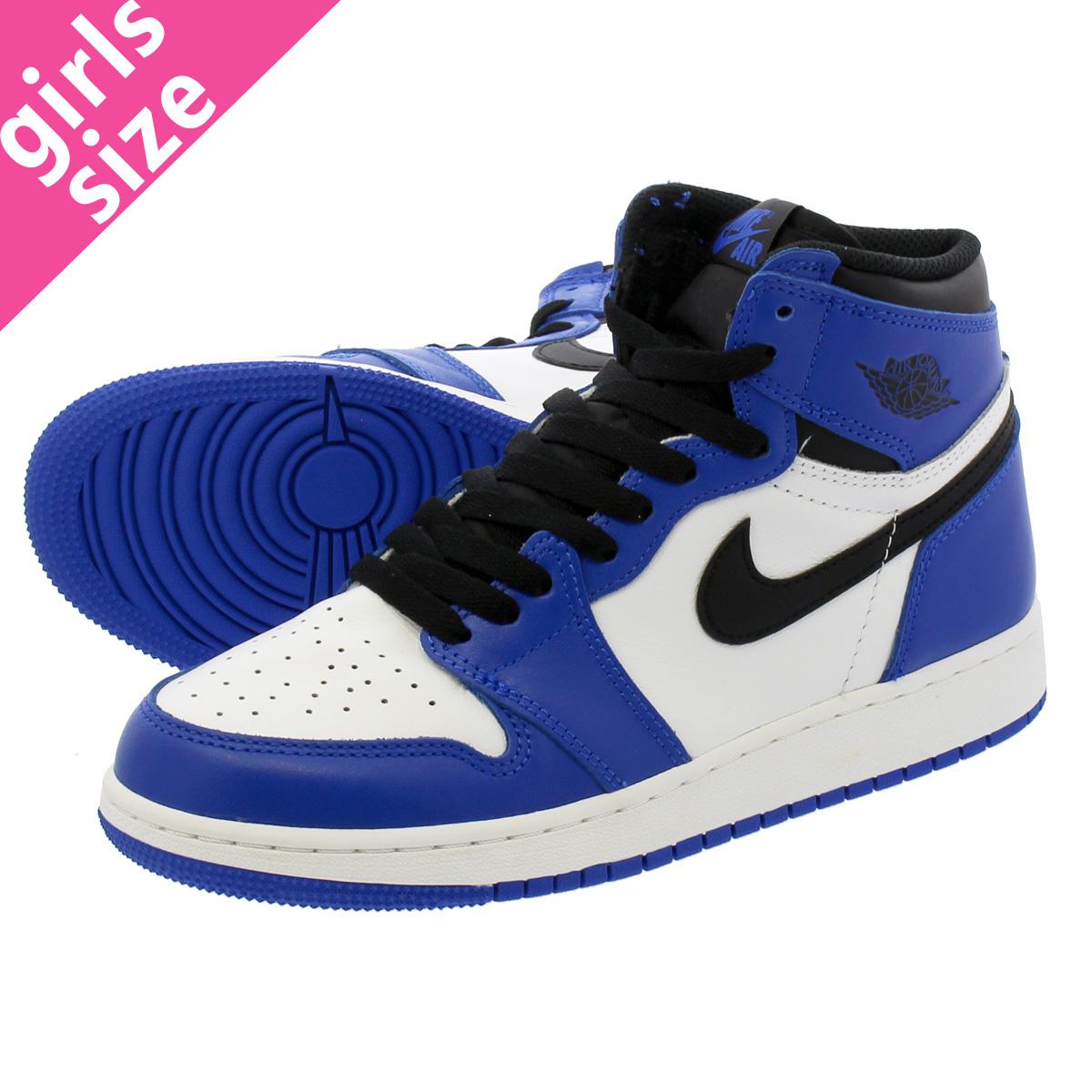 lowest price 60fb4 c07ce NIKE AIR JORDAN 1 RETRO HIGH OG BG Nike Air Jordan 1 nostalgic high OG BG  GAME ROYAL SUMMIT WHITE BLACK