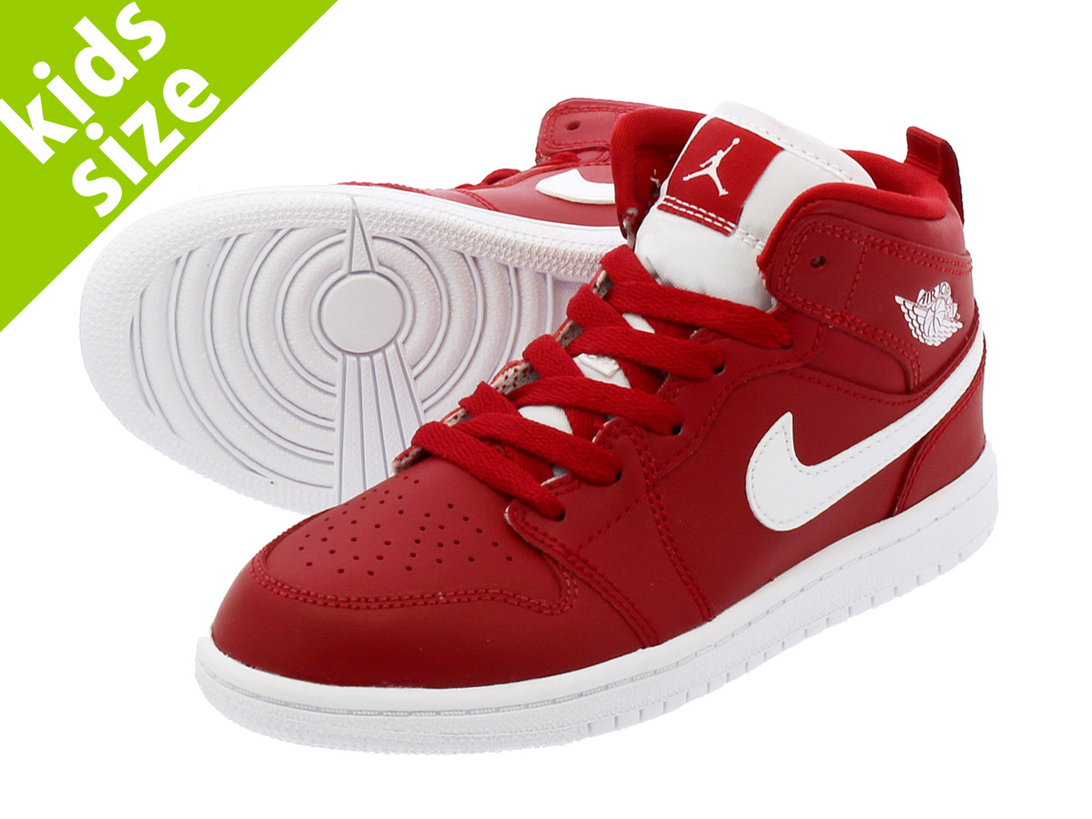 NIKE AIR JORDAN 1 MID PS ナイキ エア ジョーダン 1 ミッド PS GYM RED/WHITE/WHITE
