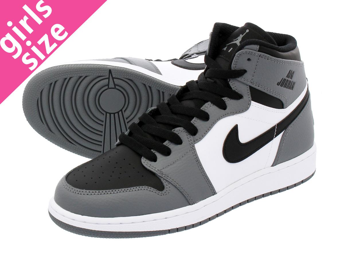 dc00aef437e5 NIKE AIR JORDAN 1 RETRO HIGH BG Nike Air Jordan 1 nostalgic high BG COOL  GREY BLACK WHITE