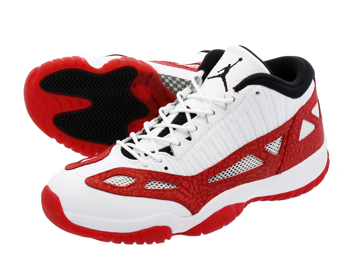 NIKE AIR JORDAN 11 RETRO LOW IE ナイキ エア ジョーダン 11 レトロ ロー IE WHITE/GYM RED/BLACK 919712-101