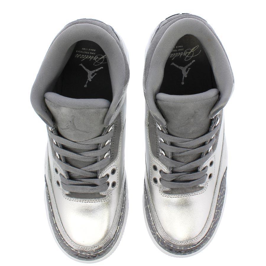 34ec39e30239 NIKE AIR JORDAN 3 RETRO PREM HC Nike Air Jordan 3 nostalgic premium HC  METALLIC SILVER COOL GREY WHITE