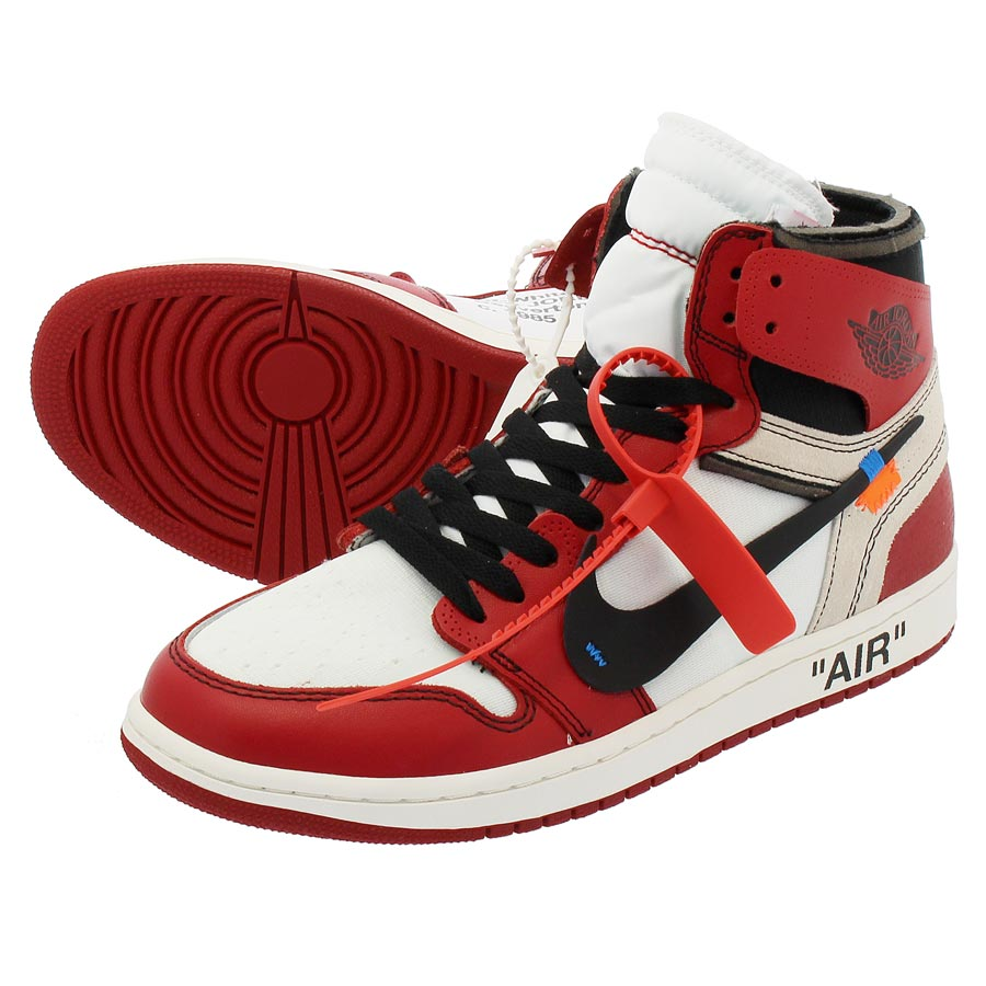 new product bed98 03611 NIKE AIR JORDAN 1 RETRO HIGH OG Nike Air Jordan 1 nostalgic high OG  WHITE BLACK VARSITY RED