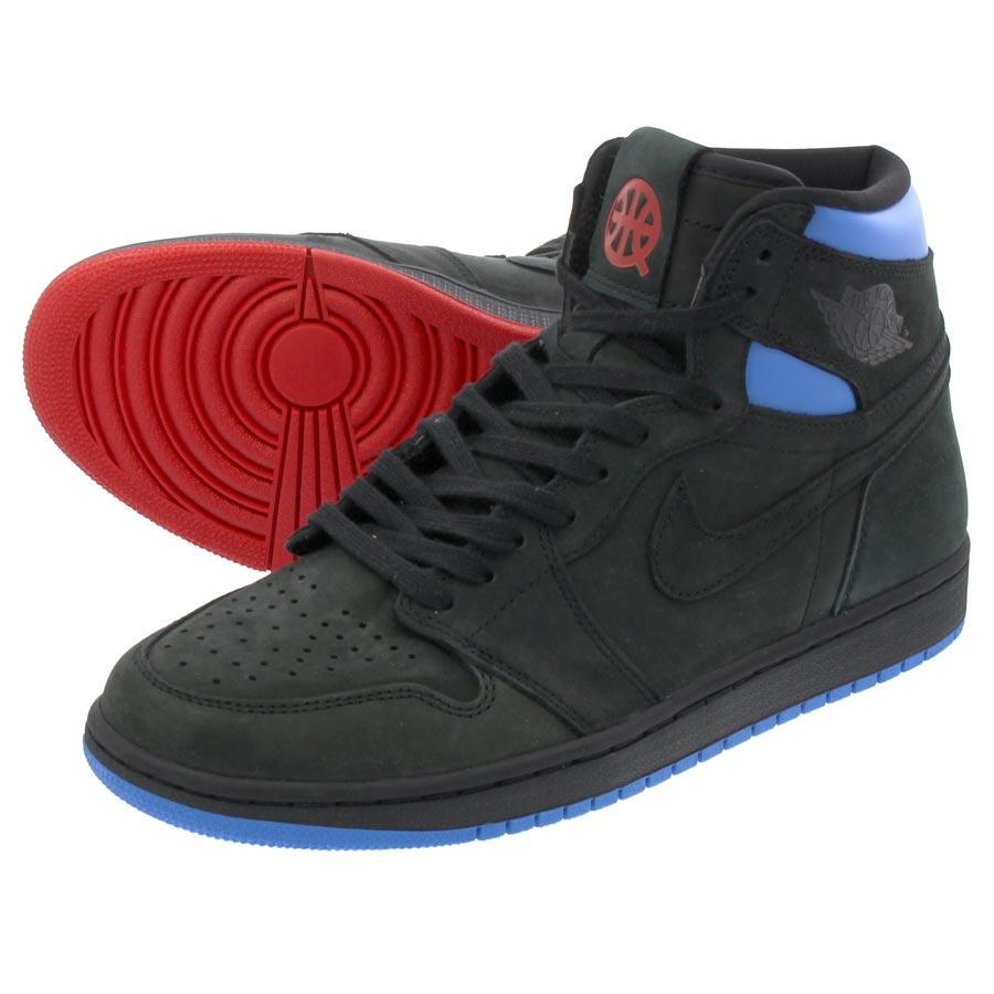 1d2b025c6026 NIKE AIR JORDAN 1 RETRO HIGH OG Nike Air Jordan 1 nostalgic high OG AS  BLACK ITALY BLUE UNIVERSITY RED