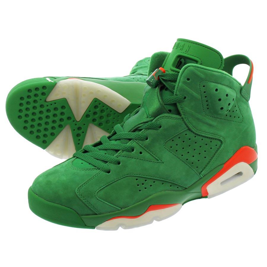f9adde8cca3 NIKE AIR JORDAN 6 RETRO Nike Air Jordan 6 nostalgic PINE GREEN/ORANGE  BLAZE/PINE GREEN