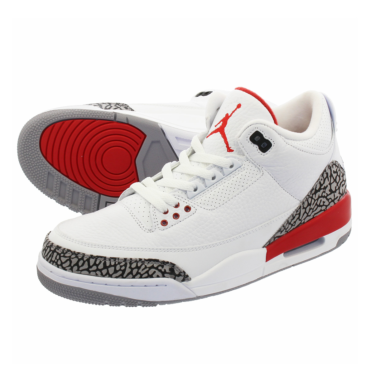 f6258ca3bcd LOWTEX PLUS: NIKE AIR JORDAN 3 RETRO Nike Air Jordan 3 nostalgic  WHITE/CEMENT GREY/FIRE RED 136,064-116 | Rakuten Global Market