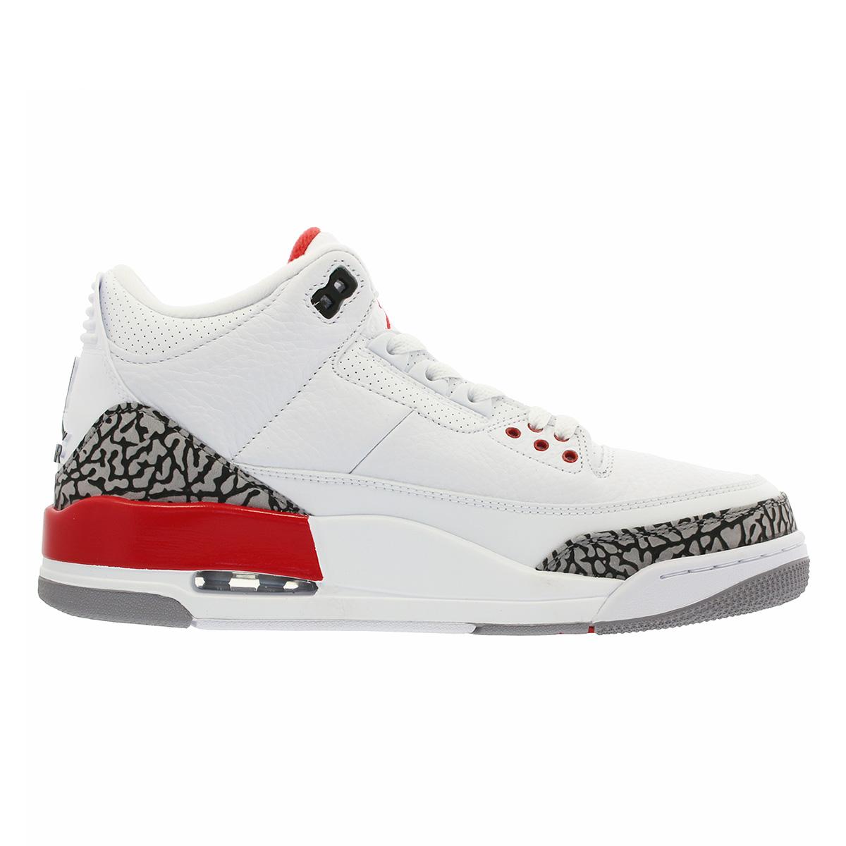 pretty nice 6f811 e3cee NIKE AIR JORDAN 3 RETRO Nike Air Jordan 3 nostalgic WHITE/CEMENT GREY/FIRE  RED 136,064-116